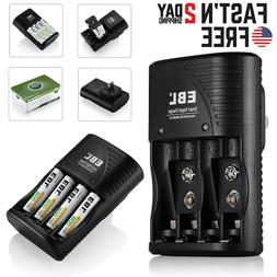 EBL 9V Battery Charger for AA AAA 9Volt NiMH NiCd Rechargeab