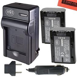 BM Premium 2-Pack of NP-FH50 Batteries and Battery Charger f