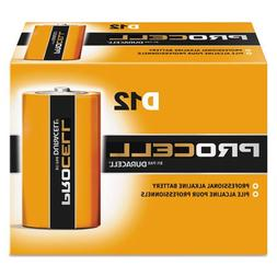 Duracell : Procell Alkaline Battery, D, 12/box -:- Sold as 2