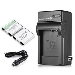 Powerextra 2 PCS NP-BN1 Battery and Charger Replacement for