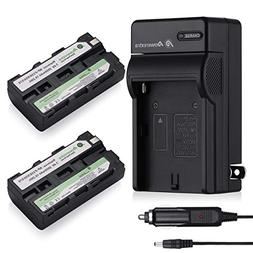 Powerextra 2 Pack Replacement Sony NP-F550 Battery and Charg