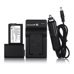 Powerextra 2 Pack Replacement Sony NP-FW50 Battery and Trave