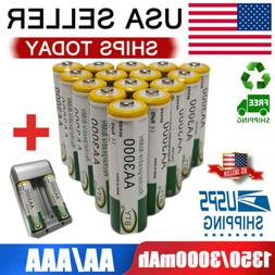 AA/AAA Battery Rechargeable 3000/1350mAh For LED Flashlight