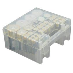 AA AAA C D 9V Battery Storage Box Case Holder Container Orga