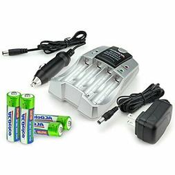 ACDelco AA and AAA Two-Hour Battery Charger for Rechargeable