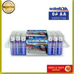 AA Batteries, Alkaline Battery, 40 Count Pack Double A Long