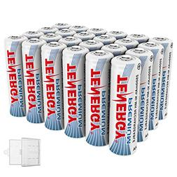 Tenergy 24 Pack Premium Rechargeable AA Batteries, High Capa