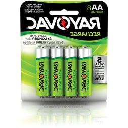 Rayovac AA Rechargeable 8-pack - 1350 mAh NiMH  Recharge Bat