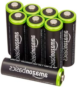 AmazonBasics AA Rechargeable Batteries 8-Pack Pre-charged -