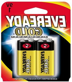 Eveready A522BP2 Gold Alkaline Batteries  9V  2 Pack