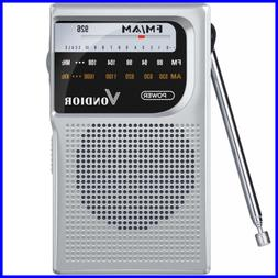 AM/FM Battery Operated Portable Pocket Radio Best Reception