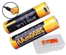 Fenix ARB-L18-2600U USB Rechargeable 2600mAh 18650 Batteries