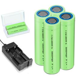 Batteries 2600mAh 18650 Rechargeable 3.7V Flat Top Battery+C