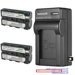 Kastar Battery AC Wall Charger for Sony NP-F330 NP-F550 NP-F