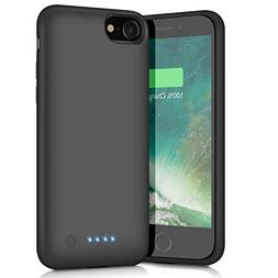 Battery Case for iPhone 8/7, 6000mAh Portable Rechargeable B