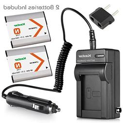 Kastar Battery  and Charger Kit for NP-BN1, BC-CSN work with