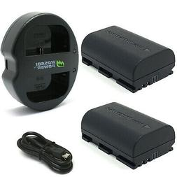 Wasabi Power Battery  and Dual Charger for Canon LP-E6, LP-E
