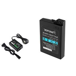 Insten Battery Pack + Home Wall Travel Charger AC Adapter Co
