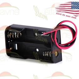"""Battery Holder Case Box with 3"""" Wire Leads for 2X Series AA"""