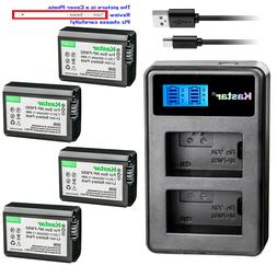 Kastar Battery LCD Dual Charger for Sony NP-FW50 BC-VW1 & IL