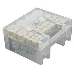 Whizzotech Battery Organizer Storage Case for AA AAA C D 9V