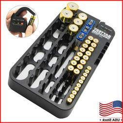 Battery Organizer Storage Case with Removeable Tester Holds