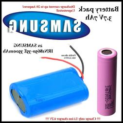 Battery pack 1S2P 3.7V 7000mAh 2x SAMSUNG INR18650-35E 3500m