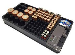 Battery Storage Organizer Holder with Tester - Battery Caddy