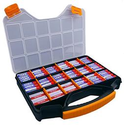 Massca Battery Storage Box Organizer Stores AAA, AA, and C S