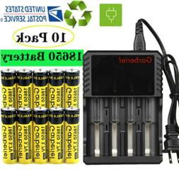 Airkoul BRC 3.7V 18650 Battery Li-ion Rechargeable Batteries