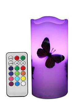 LED Candles Flameless Battery Operated with Remote Timer 6''