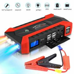 Car Jump Starter, 1000A Peak 20000mAh Portable Charger with
