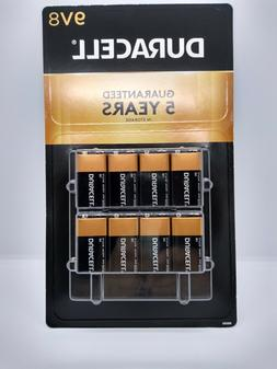 DURACELL Coppertop 9V Battery 8 Pack Expire 2022 Batteries V