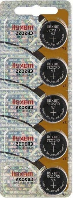 Maxell CR2025 5-Pack 3V Lithium Coin Cell Batteries