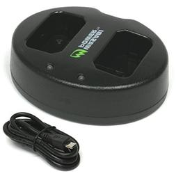Wasabi Power NP-FW50 Dual USB Battery Charger for Sony Alpha