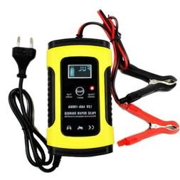 FOXSUR 12V 5A Pulse Repair LCD Battery Charger For Car Motor