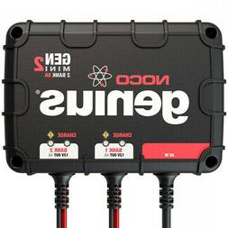Noco Genius GENM2 8 Amp Marine 2-Bank Waterproof Smart On-Bo