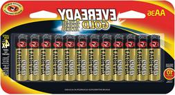 Eveready Gold AA Alkaline Batteries 36 Count