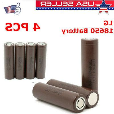 1 2 4pcs rechargeable 3000mah hg2 18650