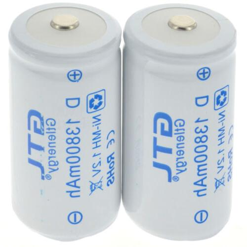 1.2V D Size Rechargeable Batteries Battery High 12800/13800 mAh