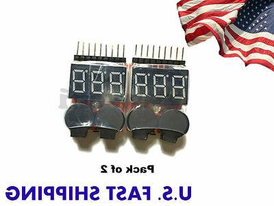 1 8s lipo battery tester low voltage