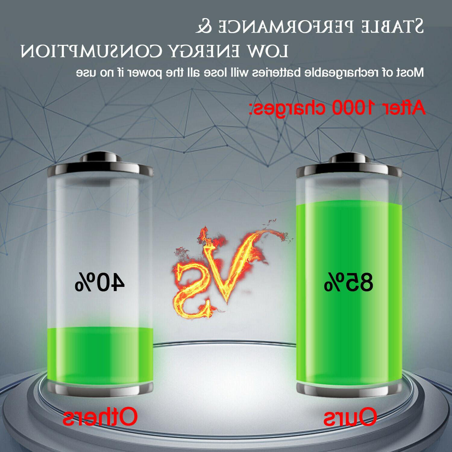 10 Batteries 18650 Rechargeable Smok+Case