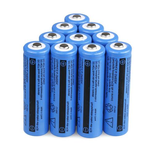 10Pcs BRC 3.7V Rechargeable For Flashlight