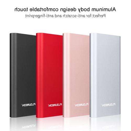 FLOUREON 12000mAh Power Bank 3A High-speed External Battery