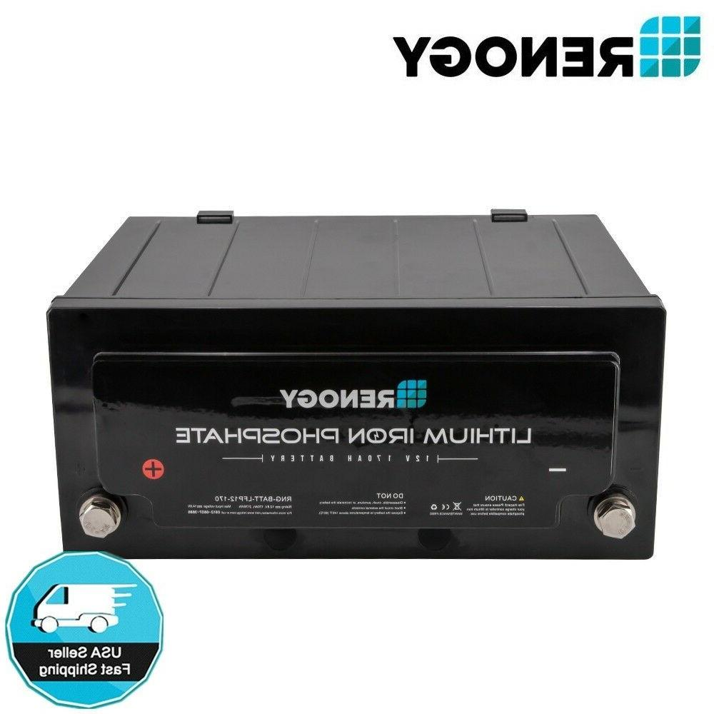 12v 170ah lithium iron phosphate battery rechargeable