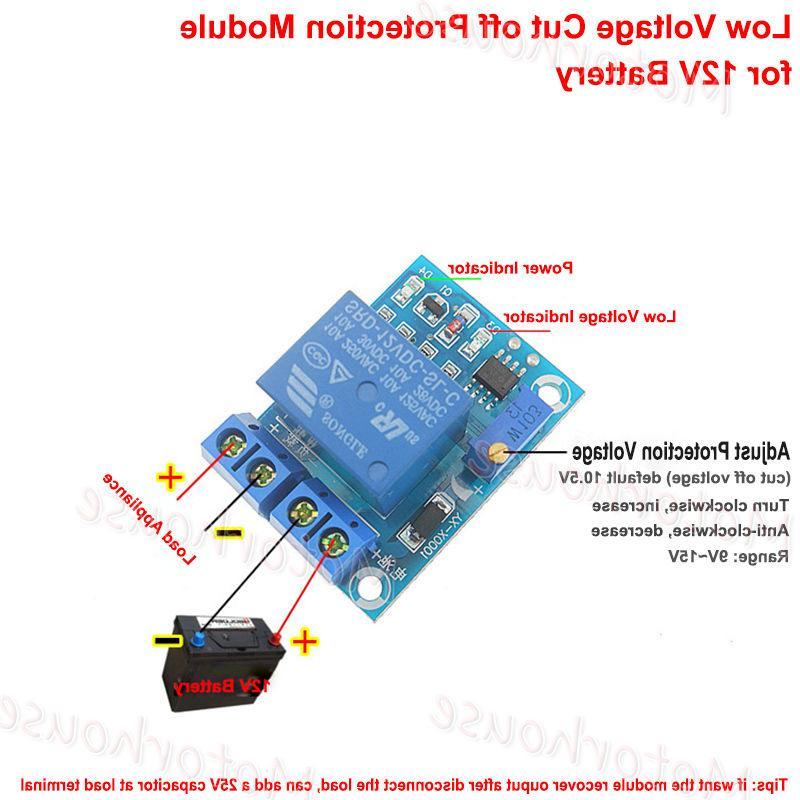 12v battery low voltage auto cut off