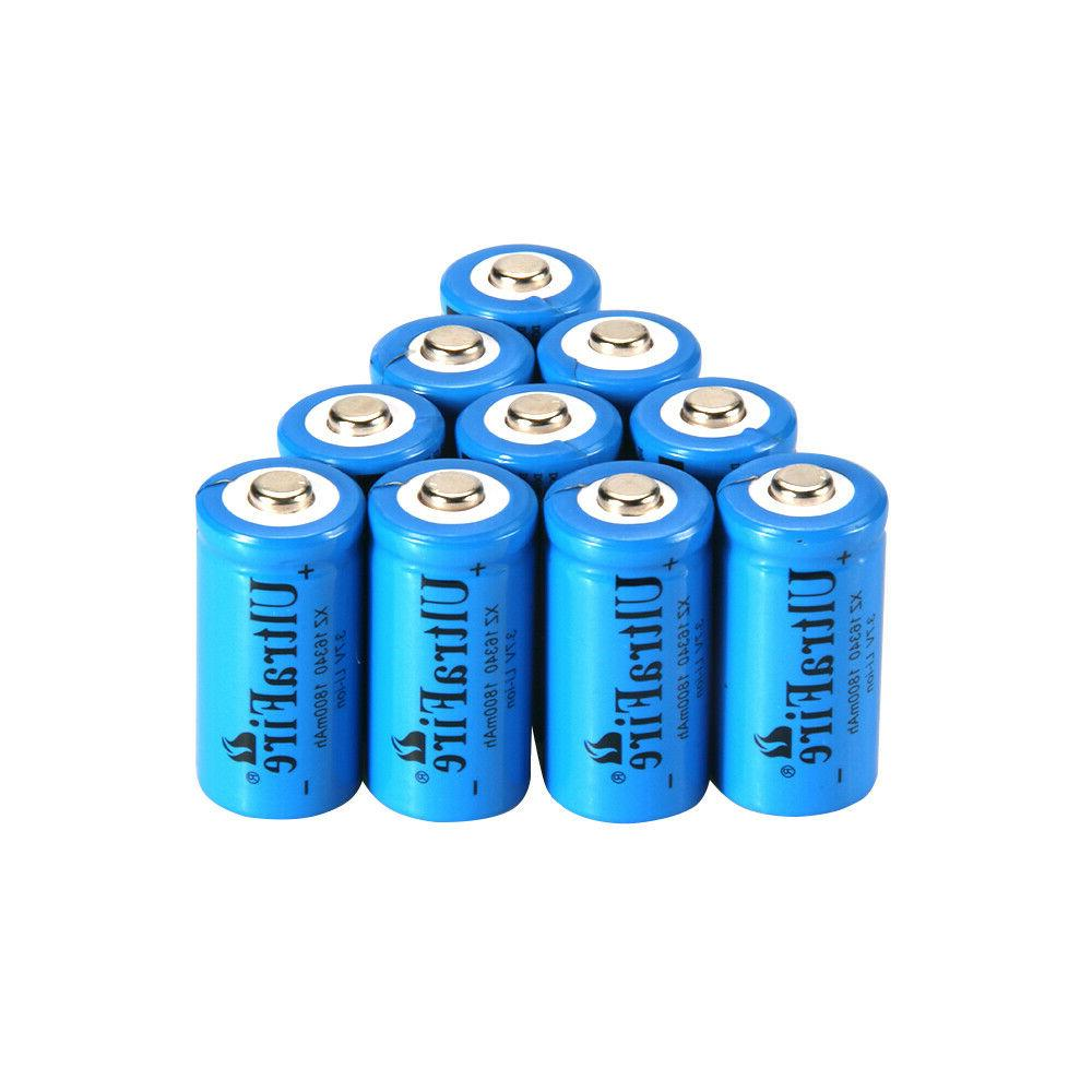 UltraFire 16340 Battery CR123A Rechargeable 3.7V Li-ion Bat
