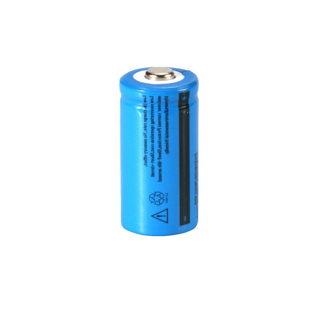 UltraFire 1800mAh CR123A Rechargeable 3.7V Bat Cell