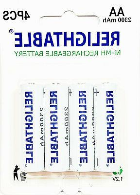 8x Solar batteries Rechargeable 2300mAh 1.2V + Charger
