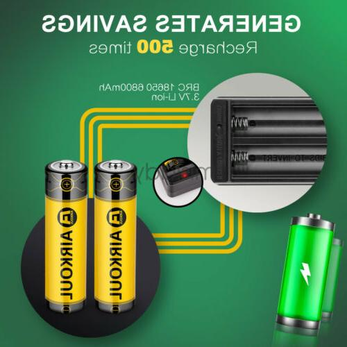 2X Battery Rechargeable For Flashlight Torch